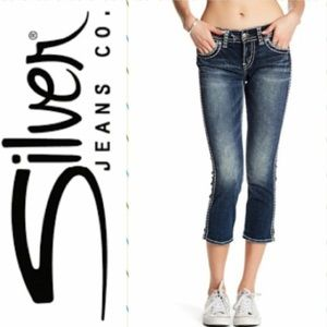 Silver jeans suki Capri denim jeans